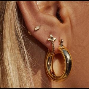 LUV AJ mini Amalfi hoops gold